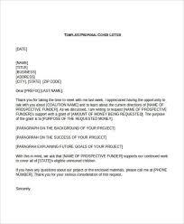 formal cover letter sample