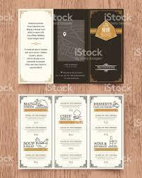 vintage restaurant menu design pamphlet template stock vector art