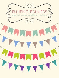Pretty Bunting Flags Royalty Free Images Scrapbook Bunting Banners Pixel Candy