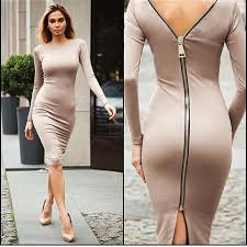tight dress bodycon back zipper robe pencil tight dress mustifiedly