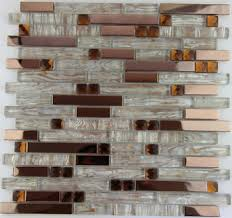 Gold Items Crystal Glass Mosaic Tile Wall Backsplashes by Fashion Style Rose Gold Metal Crystal Glass Mosaic Tile