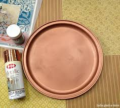 diy stencil an exotic moroccan tray india pied à terre