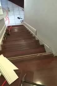 staircase installation laminate flooring glossy cherry