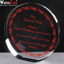 40th wedding anniversary gifts for parents anniversary gift for parents glass engravers directory