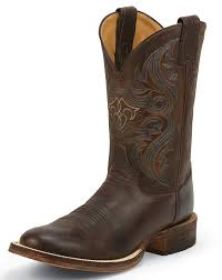 s boots justin justin s bent rail 11 toe boots brown