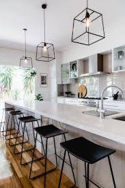 white kitchen pendant lights metal clear glass light island
