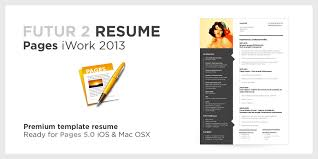 Two Page Resume Header Cv Template Pages Mac Free Creative Professional Photoshop Cv