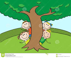 kids and tree royalty free stock images image 27756709
