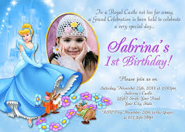2nd Birthday Invitation Card Cinderella Birthday Invitations U2013 Gangcraft Net
