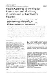 patient centered technological assessment and monitoring of