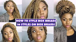 10 easy ways to style long box braids youtube
