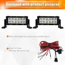 led equipped light bar 2 36w 8 cree led work light bar driving fog l for truck12 24v
