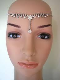 1920s bridal headband art deco headpiece great gatsby crystal