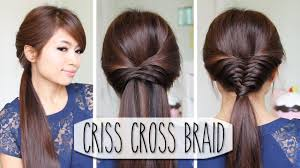 hair tutorial criss cross braid hair tutorial french fishtail cheat easy