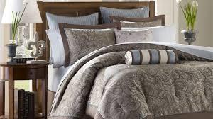 bedding set impressive blue grey paisley bedding shining blue