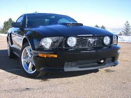 Black 2009 Mustang Gt Black Gt Cs W Matte Black Stripes The Mustang Source Ford