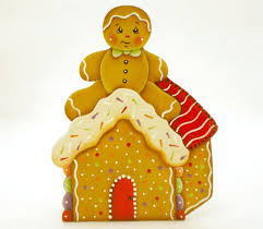 candle holder gingerbread house candle box gingerbread motif