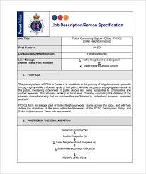 Police Officer Job Description For Resume by Police Officer Job Description Template U2013 9 Free Word Pdf Format