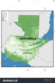 geographical map of guatemala physical map guatemala stock illustration 149057651