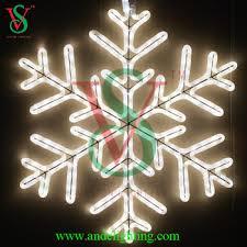 outdoor hanging snowflake lights 2d motif acrylic large big hanging flashing lighted snowflake led