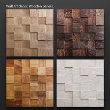 wood panels mosaic wood panel 3d set cgtrader