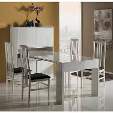 astus white high gloss cabinet expanding dining table storage solution
