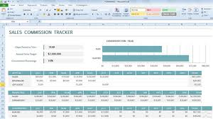 Microsoft Excel Sales Templates commission tracker template for excel 2013