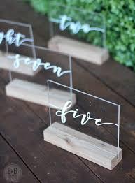 acrylic table numbers wedding custom acrylic table numbers wedding or event table numbers