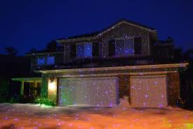 awesome light projectors and houses lit up time for