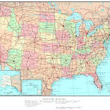map of united states with states and cities labeled map usa states forms map and flag of united states of