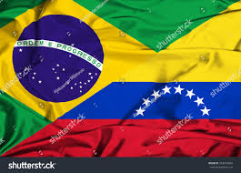 Flag Venezuela Waving Flag Venezuela Brazil Stock Illustration 242972062