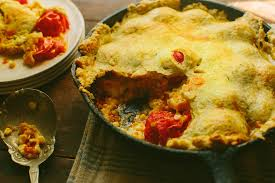 skillet baked tomato cobbler with herb crust recipes backyard