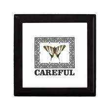 careful yellow butterfly gift box butterfly gifts