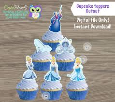 cinderella cupcake toppers cinderella cupcake toppers princess cinderella cupcake toppers