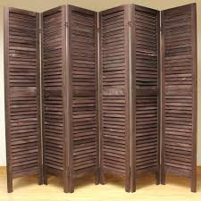 asian room dividers ikea wooden slat divider screen 6 panel brown