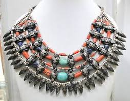 beaded necklace ebay images Vintage antique ethnic tribal 925 sterling silver coral turquoise jpg