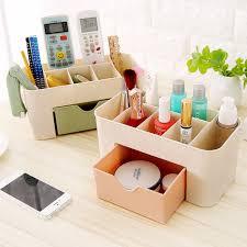 Desk Storage Organizers Aliexpress Buy Pp Plastic Cosmetic Storage Box Multifunction