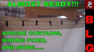 Replacement Pop Up Camper Curtains Apache Camper Wiring Curtains And More Updates Youtube