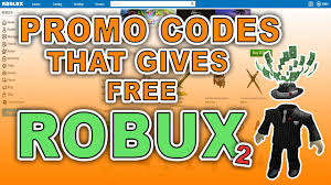 promo codes that gives free robux 2 youtube