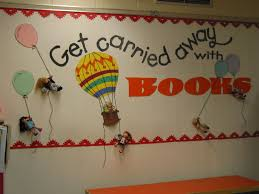get carried away with books bulletin board could be used for my