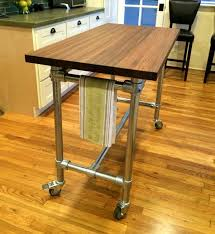 butcher block table on wheels movable butcher block kitchen island new best 25 rolling island