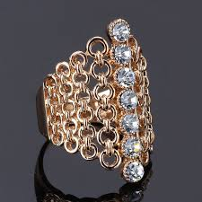big rings design images New hot selling big 18k rose gold plated multi color stone jpg