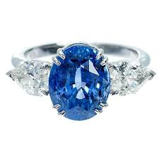 corn flower blue suchy cornflower blue sapphire diamond three