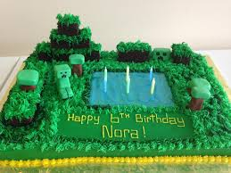 my girls birthday cake today minecraft