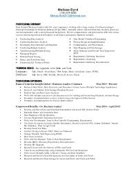 Resume With Sql Experience Analyst Resume