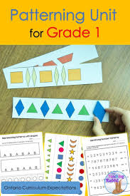this patterning unit includes lesson ideas with many hands on