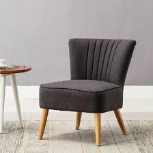Retro Accent Chair Ayla Linen Retro Occasional Hallway Bedroom Living Room Accent