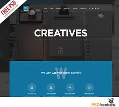 halloween web template creative digital agency website template free psd psdfreebies com