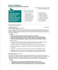 marketing resume template berathen com