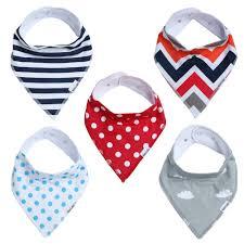 amazon com baby bandana drool bibs for boys u0026 girls unisex 5